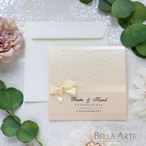 Zaproszenia ślubne Massimo Perłowe