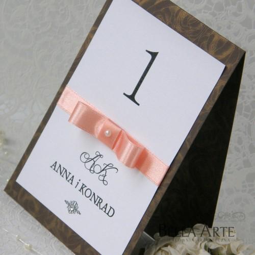 Numery stołów weselnych Verona