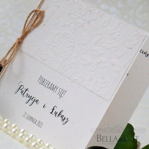 Rustykalne Zaproszenia Ślubne Ekologiczne