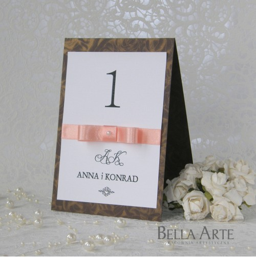 Numery stółów weselnych Verona
