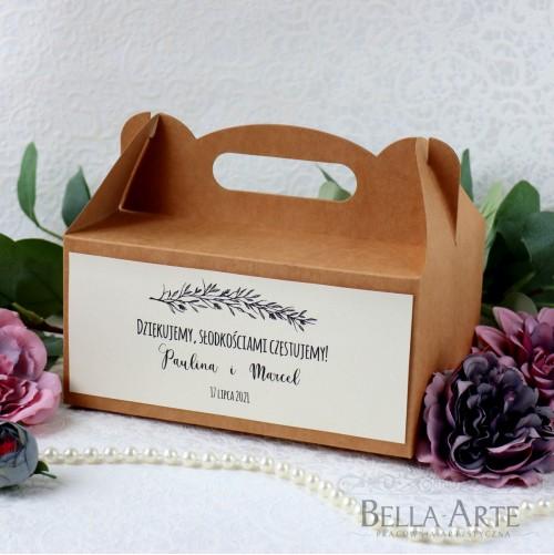 Pudełko na ciasto ekologiczne Kraft