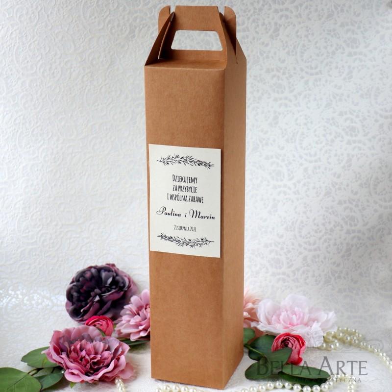 Ekologiczne Weselne Pudełko na Alkohol Wódkę Wino