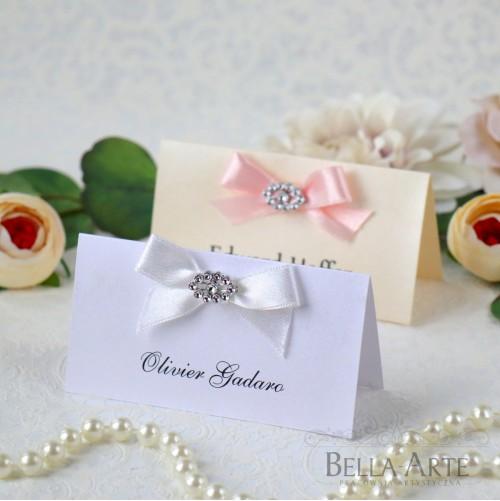 Perłowe winietki na stół Glamour