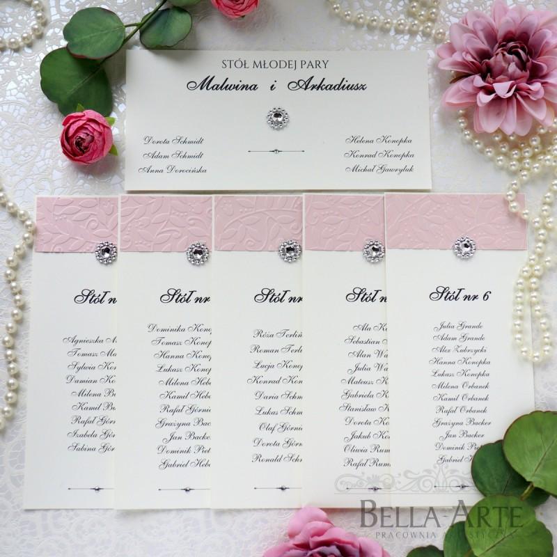 Elegancki Plan stołów blankiety Amelia