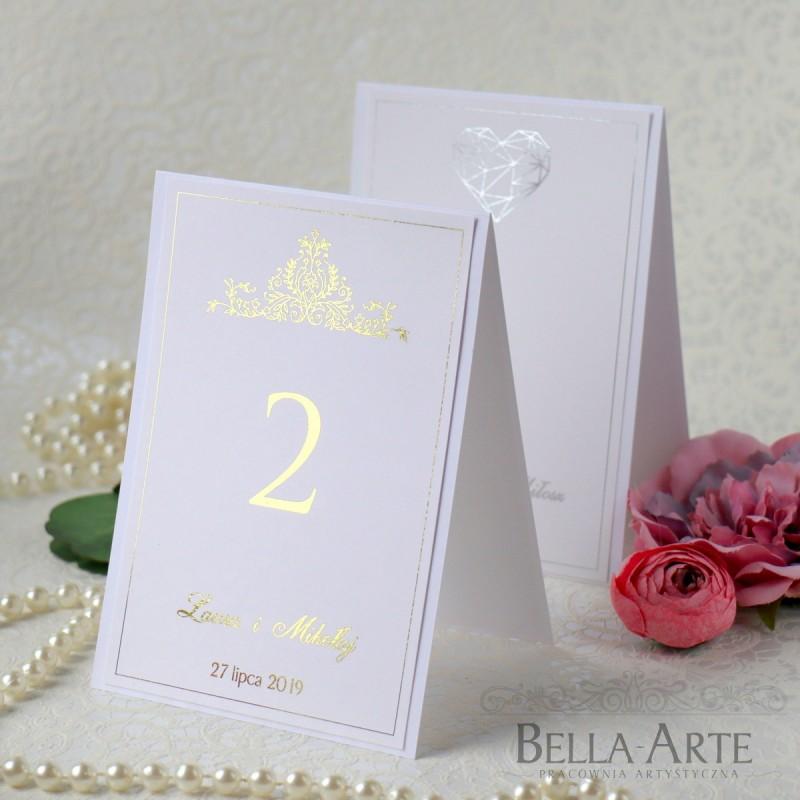 Plan Stołów numery stołów weselnych Złocone Glamour