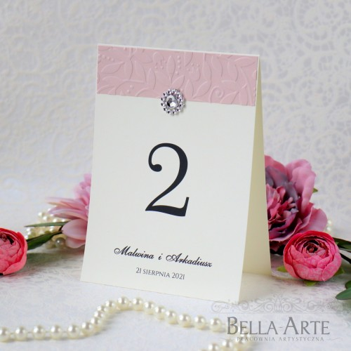 Numery stołów weselnych Klasyczne Amelia