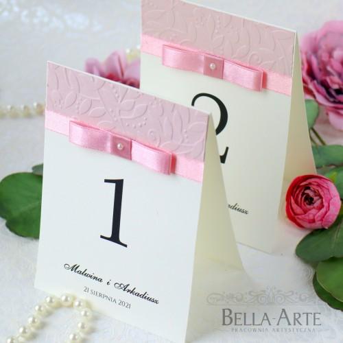 Plan stołów numery stołów weselnych Amelia