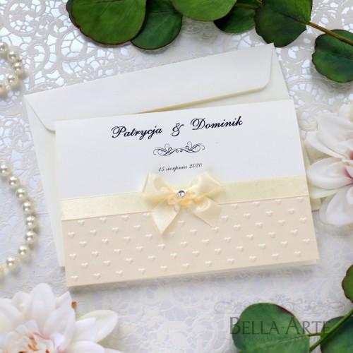 Zaproszenia ślubne z tłoczeniem Fiorella