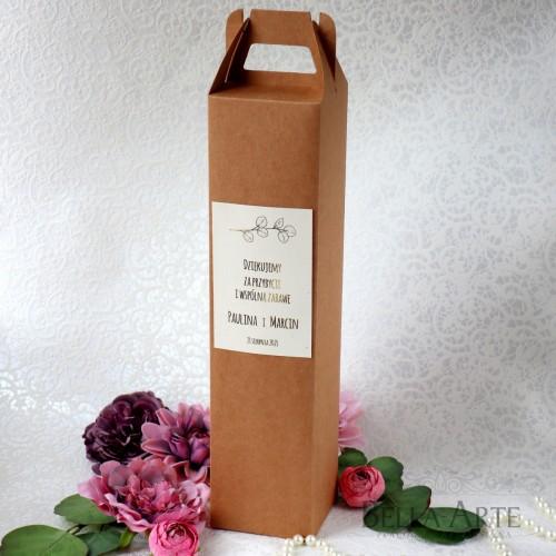 Ekologiczne Złocone Pudełko na Alkohol Wódkę Wino Eukaliptus
