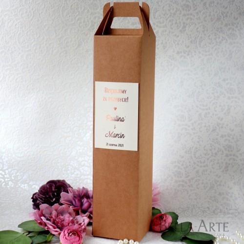 Ekologiczne Złocone Pudełko na Alkohol Wódkę Wino Serce