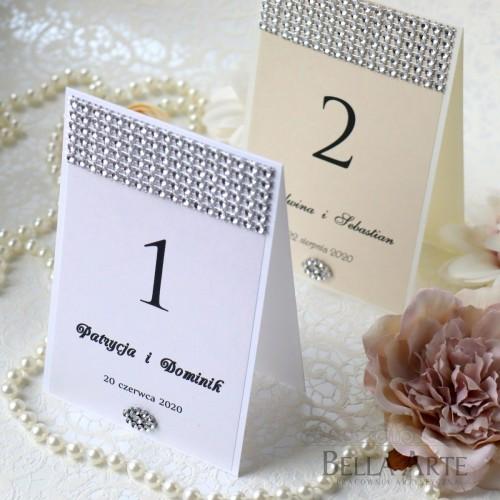 Numer stołów weselnych Perłowy Glamour