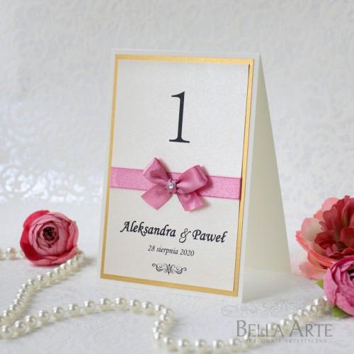 Numery stołów weselnych Eleganckie