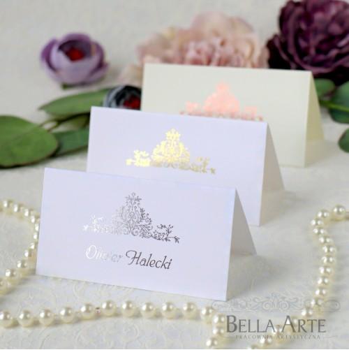 Złocone Posrebrzane Winietki na stół Glamour