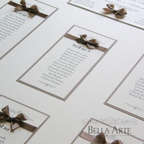 Plan stołów weselnych Vittoria