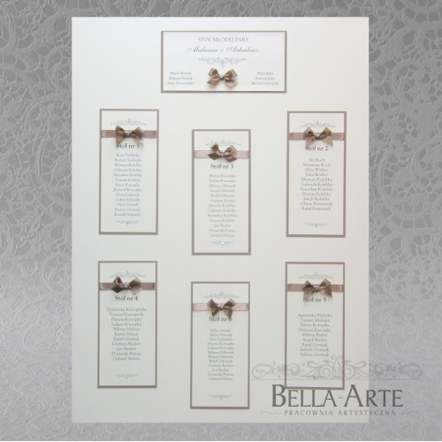 Plan stołów weselnych + Numery Vittoria