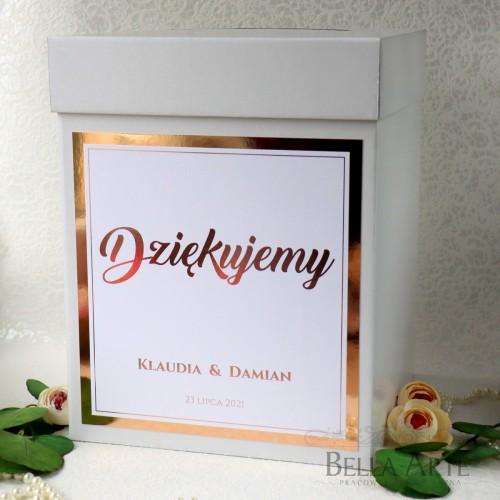 Pudełko na koperty Mirror Różowe Złoto