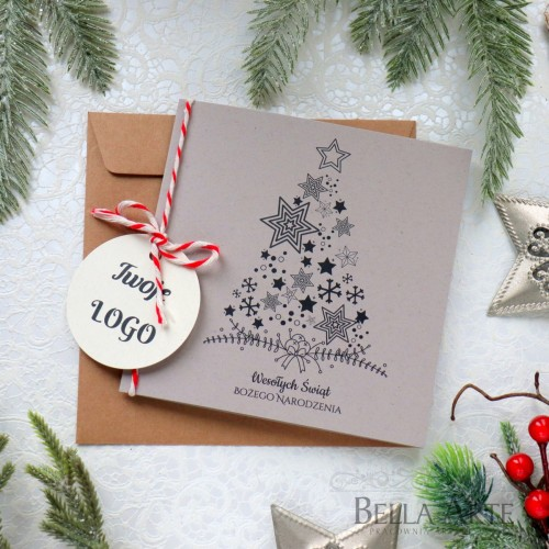 EKO firmowe ekologiczne kartki świąteczne dla firm biznesowe LOGO