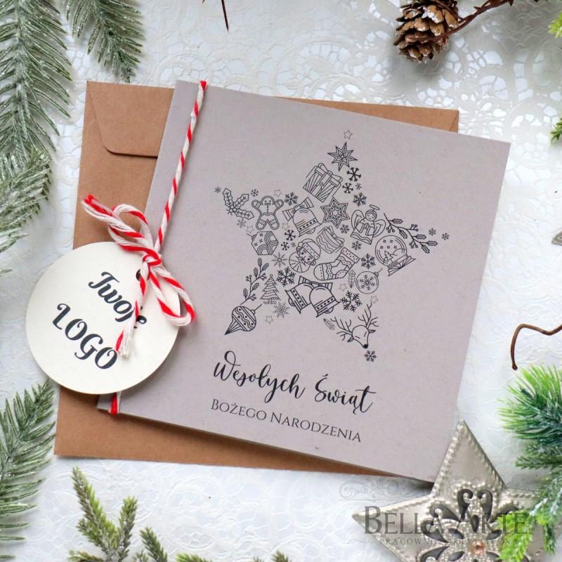 Kartki świąteczne ekologiczne EKO dla firm biznesowe z Logo