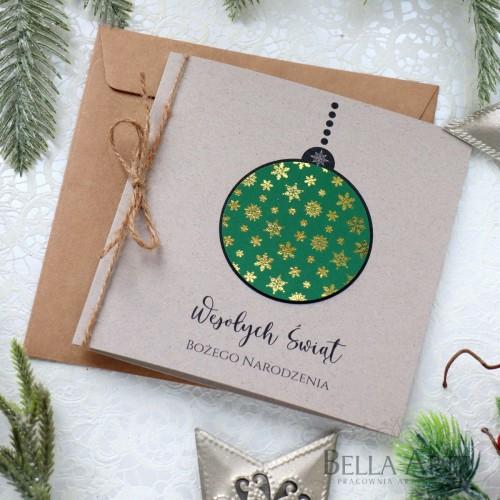 EKO biznesowe ekologiczne kartki świąteczne dla firm z LOGO
