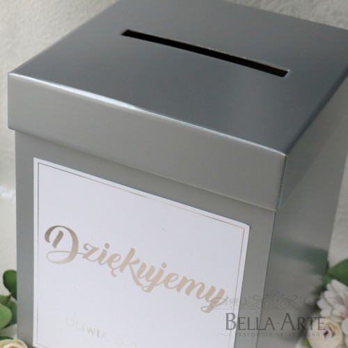 Pudełko na koperty kopertówka Geometryczne Serce Glamour