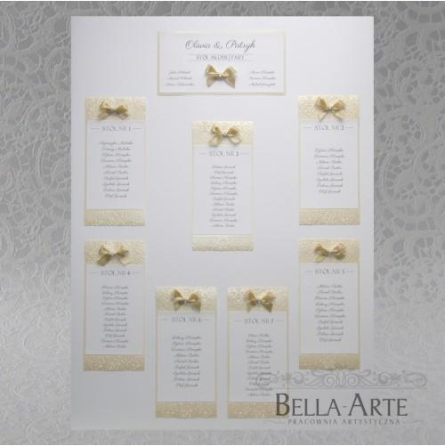 Plan stołów weselnych + Numery Massimo