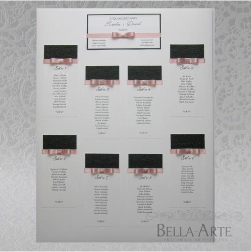 Plan stołów weselnych + Numery Amelia