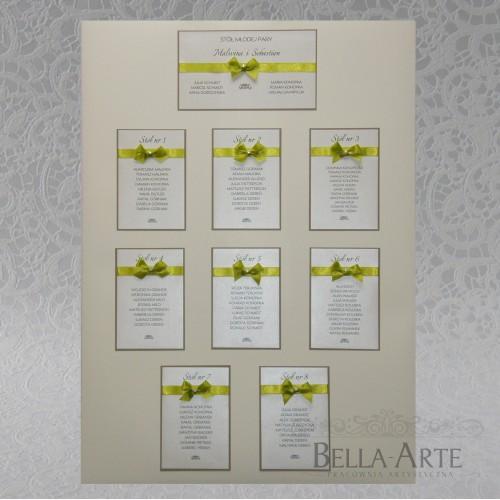 Plan stołów weselnych Elegante