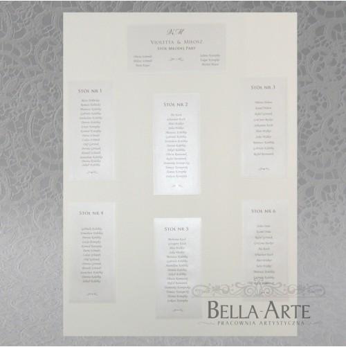 Plan stołów weselnych + Numery Antonella