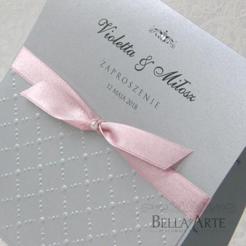Zaproszenia perłowe Amelia