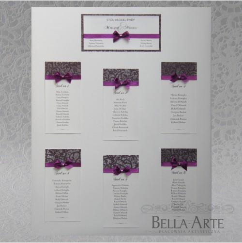 Plan stołów weselnych + Numery Fiorella