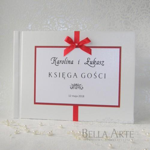 Księga gości Elegante biała