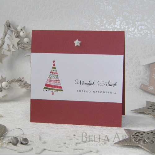 Kartki świąteczne dla firm kwadratowe