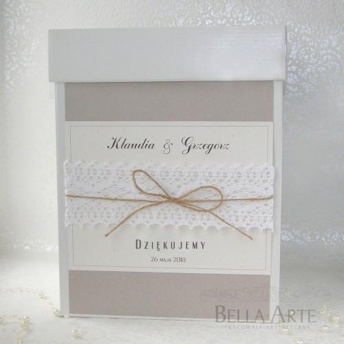 Pudełko na koperty z koronką Eko