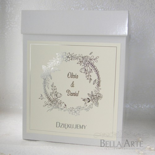 Złocone Pudełko na koperty Glamour