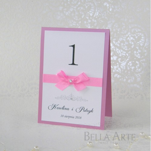 Numery stółów weselnych Eleganckie