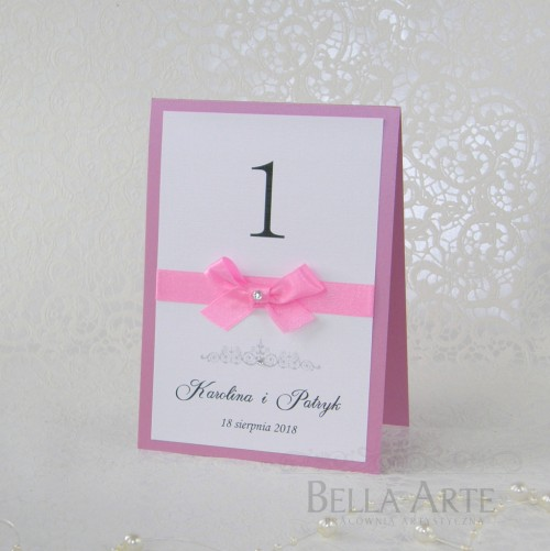 Numery stołów weselnych Vittoria