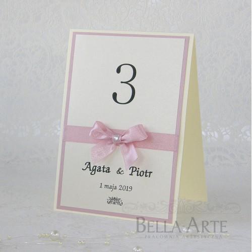 Numery stołów weselnych Elegante