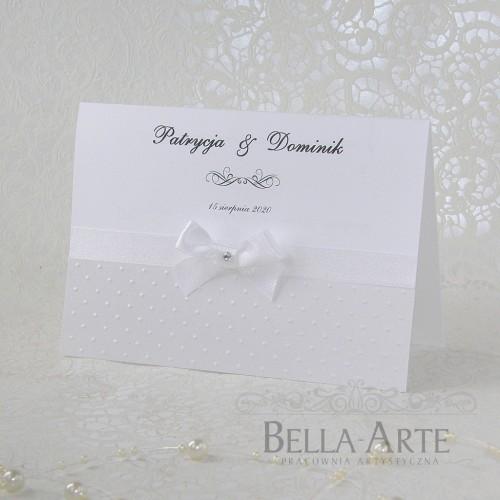 Tłoczone Zaproszenia ślubne Fiorella