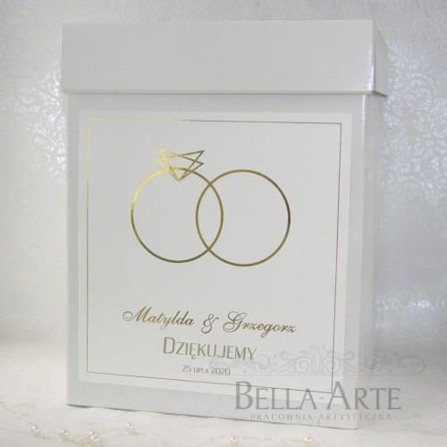 Pudełko na koperty Złocone Glamour