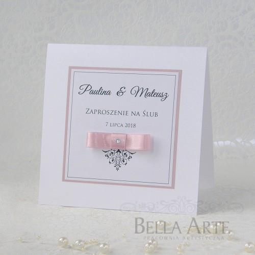 Zaproszenia ślubne Elegante Perłowe