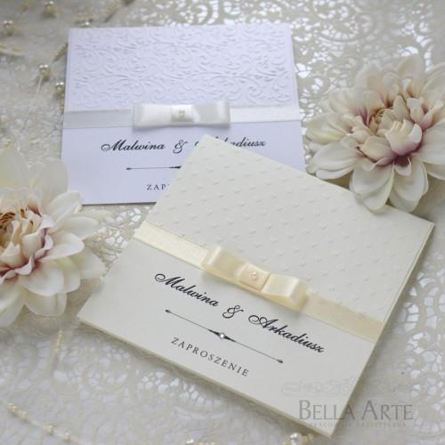 Klasyczne Zaproszenia ślubne Amelia