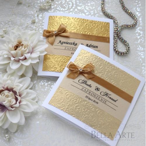 Zaproszenia ślubne z kolorowym tłoczeniem